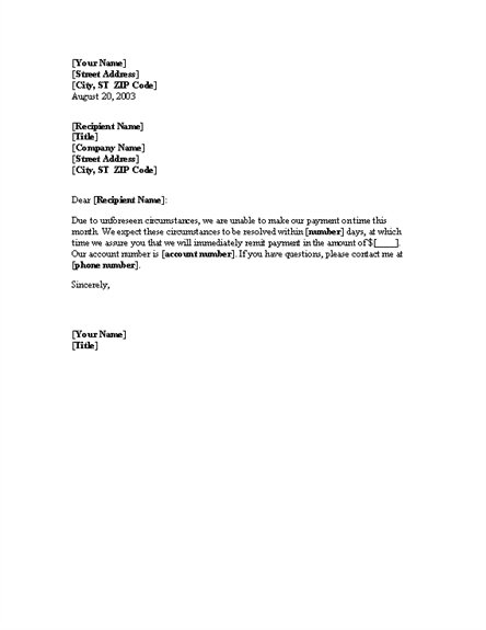 notice about the late payment letter template useful letters templates