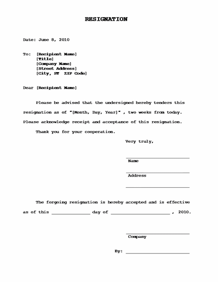 acceptance of resignation letter format - Romeo.landinez.co
