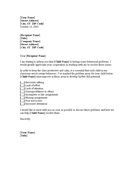 Upcoming leave notification letter to school management for Letter to parents template from teachers