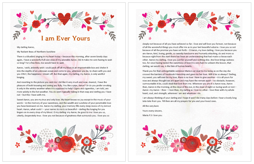 I Am Ever Yours Love Letter